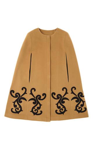 Medium msgm black baroque swirl cape