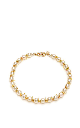 Jackie Ouch Pearls And Barbed Wire Necklace by TOM BINNS Now Available on Moda Operandi