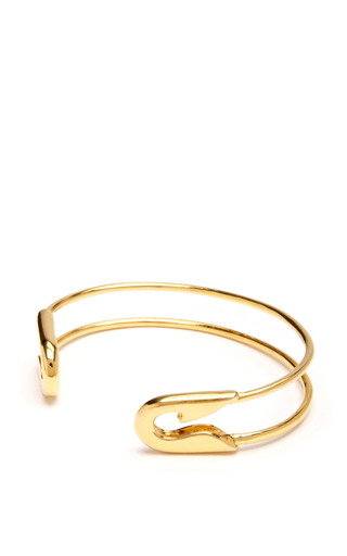 Medium tom binns gold small gold safety pin cuff