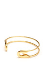 Small Gold Safety Pin Cuff by TOM BINNS Now Available on Moda Operandi