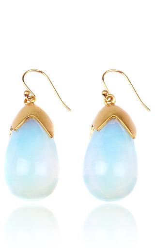 Medium lulu frost gold milky way earrings