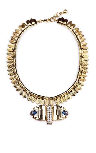 Medium lulu frost blue solarwave necklace