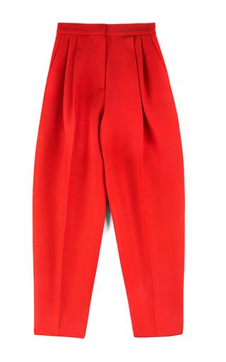 Medium giambattista valli red lana overlay pant