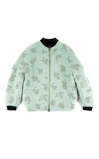 Medium giambattista valli light green doppio seta and coto bomber jacket