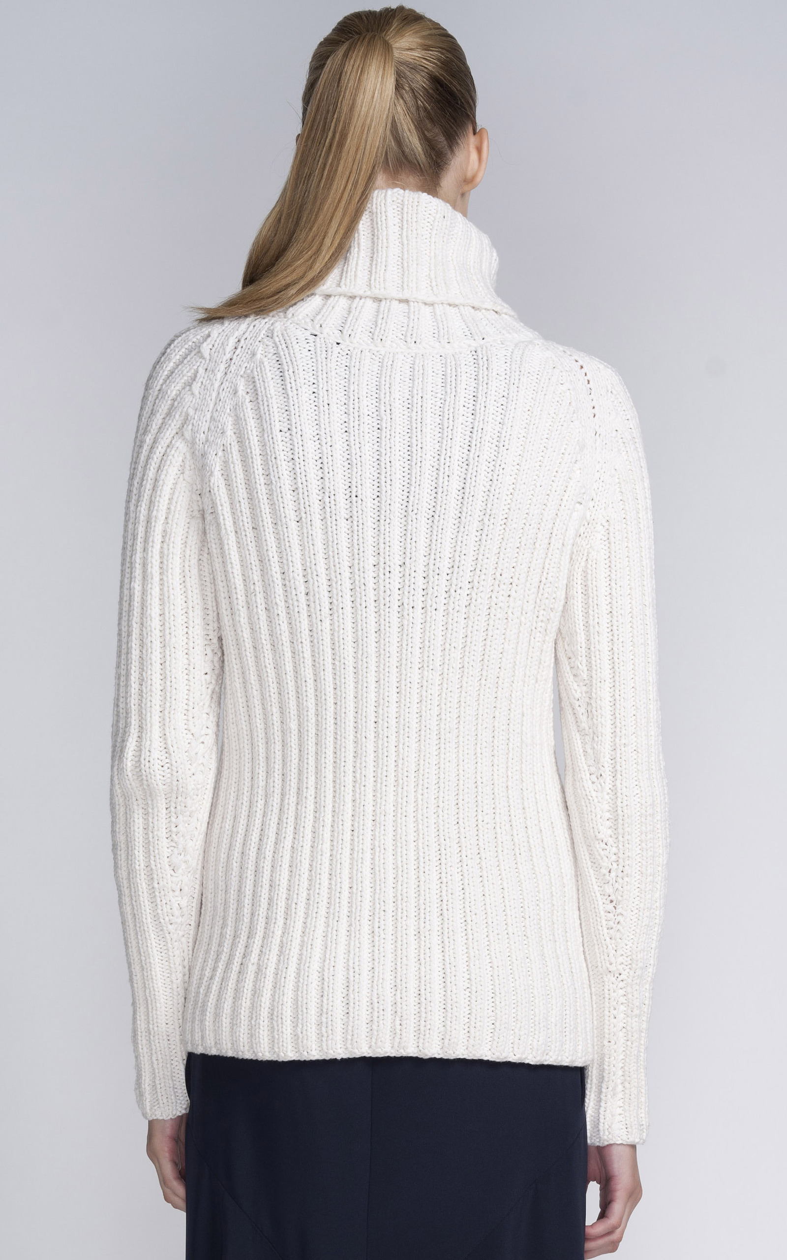 Wide Ribbed Turtleneck Sweater - English Sweater Vest