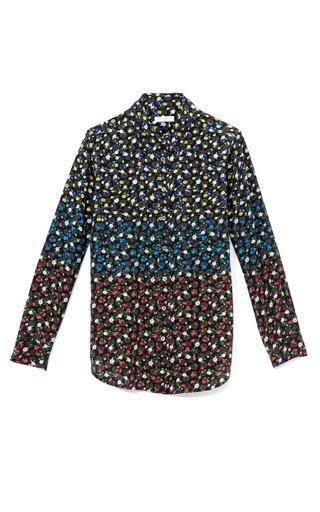 Medium equipment multi black multi slim signature blouse