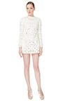 Agnello Long Sleeved A Line Cut Out Embroidered Dress by VALENTINO for Preorder on Moda Operandi