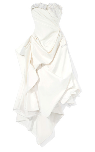 Medium marchesa ivory raw silk deconstructed shirtdress