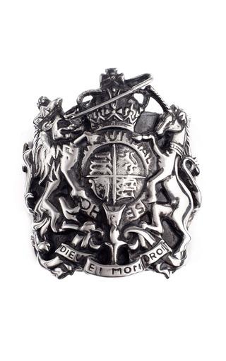 Medium tom binns silver silver punked royal crest cuff