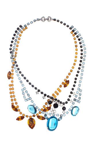 Medium tom binns multi indicolite topaz black white tangled necklace