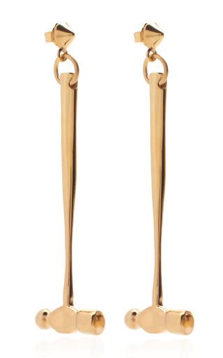 Medium tom binns gold gold hammer earrings