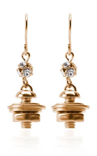 Medium tom binns gold gold nut bolt earrings with washers