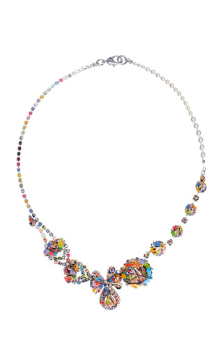 Medium tom binns multi anna necklace with pearls and splashed with paint