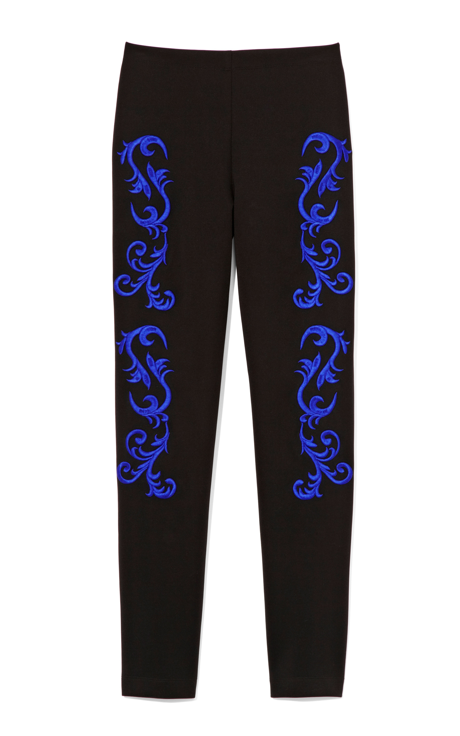 Black Embroidered Pants by Clover Canyon | Moda Operandi