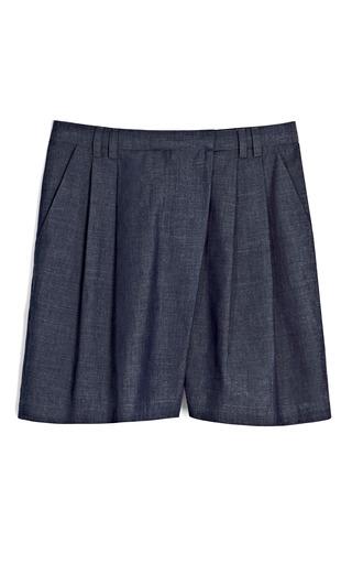 Medium sea blue japanese denim chambray shorts