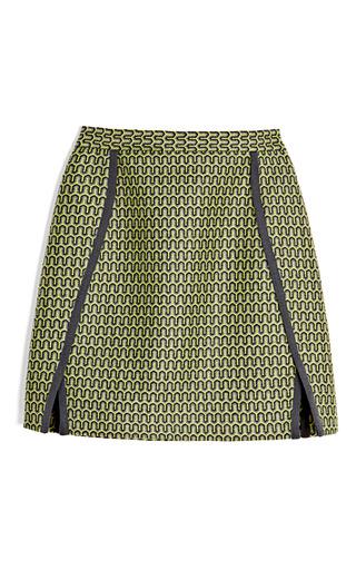 Medium sea dark grey zig zag jacquard skirt