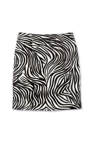 Medium tibi print zebra pony skirt