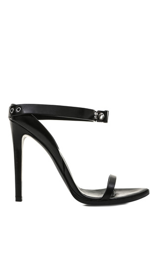 Medium anthony vaccarello black abisko sandal