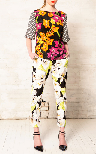 Calla Lily Tailored Pants by ISOLDA for Preorder on Moda Operandi