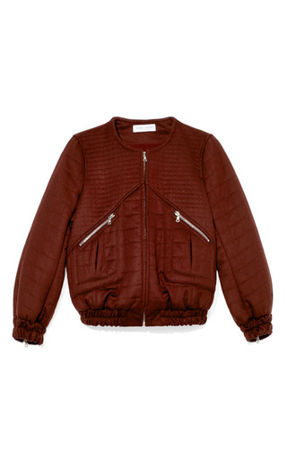 Medium tanya taylor burgundy brielle bomber