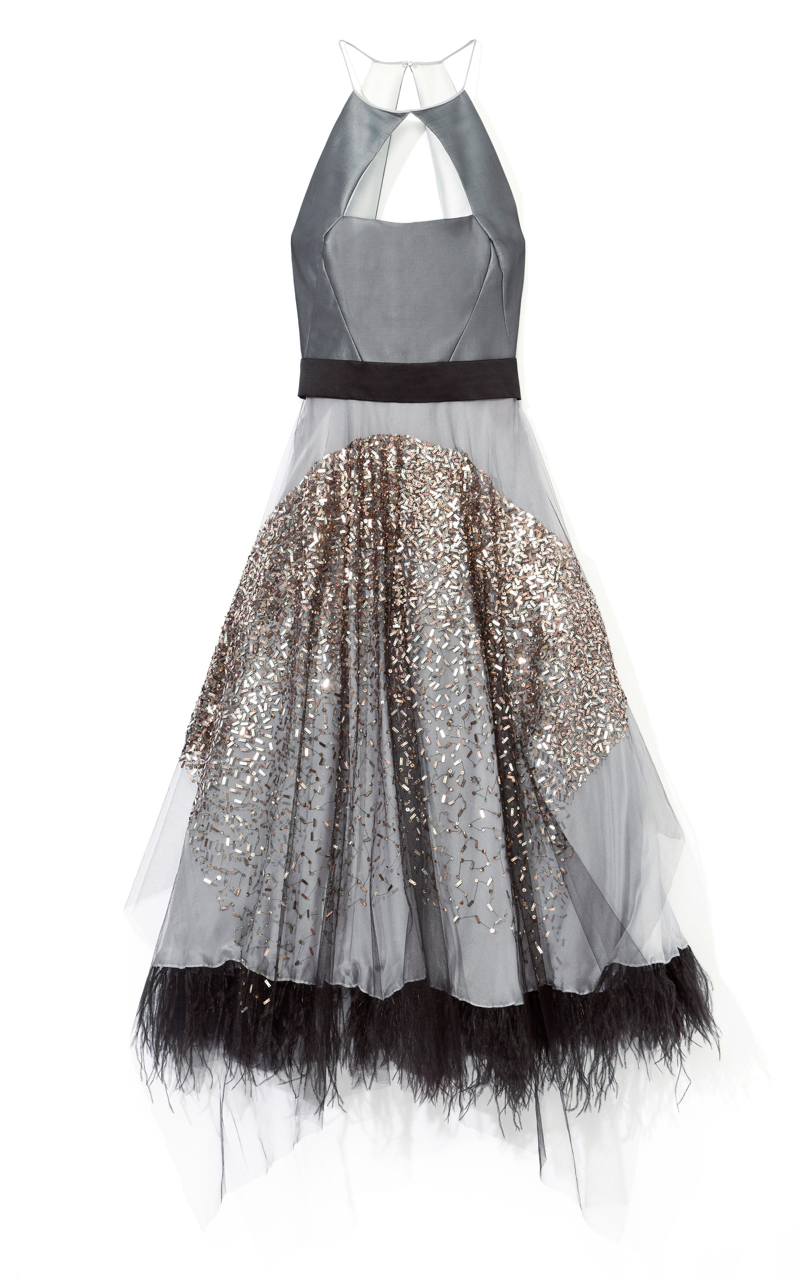 686ce0ee142 Gold Dust Embroidered Cocktail Dress by Bibhu Mohapatra