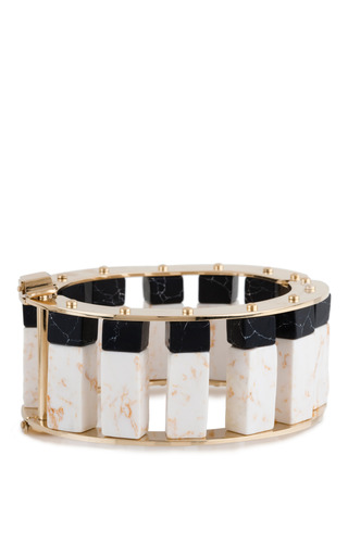 Medium lele sadoughi multi stone column slider bracelet