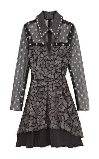 Medium rodarte multi metallic star tulle dress