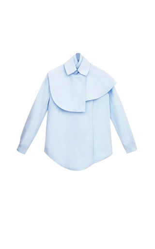 Medium a w a k e blue cape shirting blouse