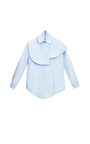 Cape Shirting Blouse by A.W.A.K.E. for Preorder on Moda Operandi