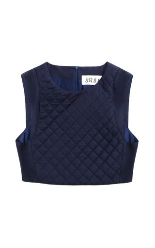 Medium a w a k e navy quilted fencing vest