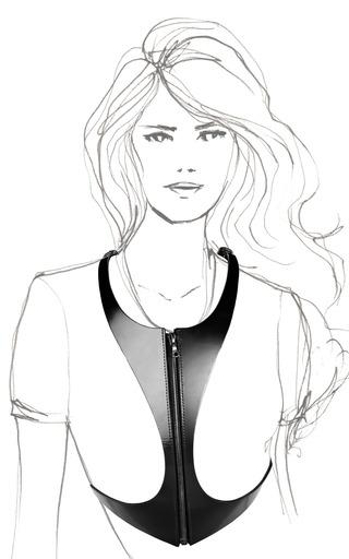 Leather Zip Harness by FLEET ILYA Now Available on Moda Operandi