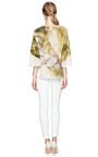 M'o Exclusive: Loose Fit Printed Silk Top by DOLCE & GABBANA Now Available on Moda Operandi