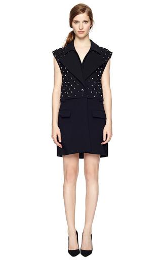 Studded Silk Cady Long Vest by GIVENCHY Now Available on Moda Operandi