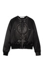 Stud Embellished Duchesse Satin Bomber Jacket by GIVENCHY Now Available on Moda Operandi