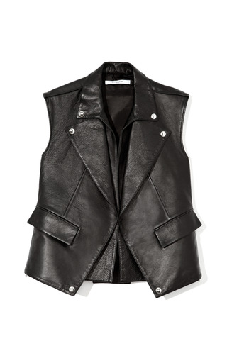 Medium givenchy black leather vest
