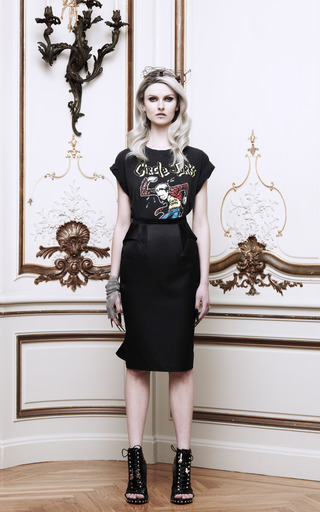 Ruffled Back Duchesse Satin Pencil Skirt by GIVENCHY Now Available on Moda Operandi