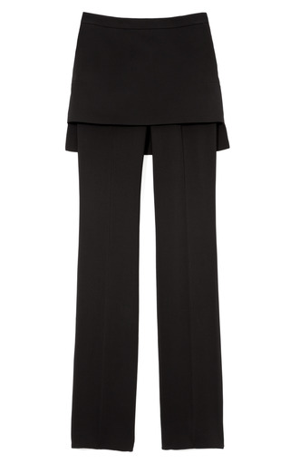 M'o Exclusive: Skirted Cady Straight Leg Pants by GIVENCHY Now Available on Moda Operandi