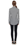 M'o Exclusive: Striped Cotton Shirt by BALMAIN Now Available on Moda Operandi