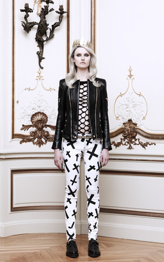 Leather Biker Jacket by BALMAIN Now Available on Moda Operandi