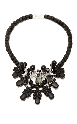 M'o Exclusive: Black & Silver Dagger Necklace by EK THONGPRASERT Now Available on Moda Operandi