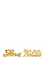 Gold Plated Love Kills Stud Earrings by HOUSE OF WARIS Now Available on Moda Operandi
