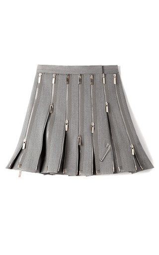 Medium thom browne dark grey mo exclusive wool zipped kilt
