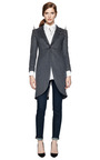 Morning Cashmere Coat With Studs by THOM BROWNE Now Available on Moda Operandi