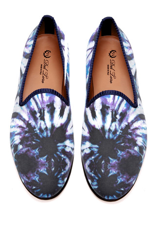 Medium del toro multi prince albert purple tie dye slipper loafers