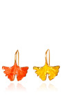 Gold Plated And Lacquered Ginkgo Feather Earrings by AURéLIE BIDERMANN Now Available on Moda Operandi