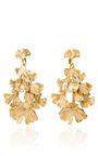Gold Plated Ginkgo Feather Clip On Earrings by AURéLIE BIDERMANN Now Available on Moda Operandi