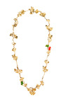 Long Gold Plated & Lacquered Ginkgo Feather Necklace by AURéLIE BIDERMANN Now Available on Moda Operandi