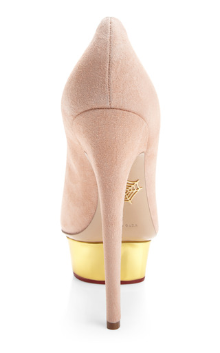 Cindy Suede Platform Pumps by CHARLOTTE OLYMPIA Now Available on Moda Operandi