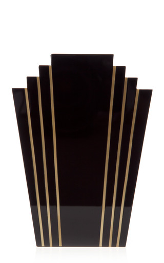 Medium charlotte olympia black geometric box clutch
