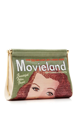 Movieland Embroidered Clutch by CHARLOTTE OLYMPIA Now Available on Moda Operandi